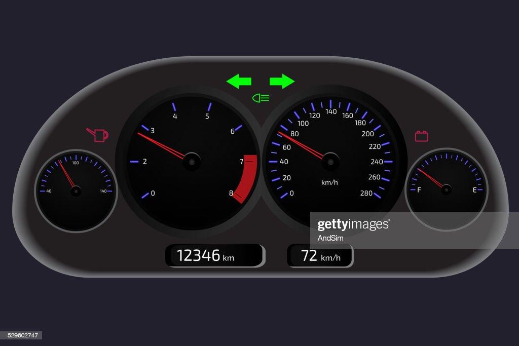 Car dashboard, automobile control panel