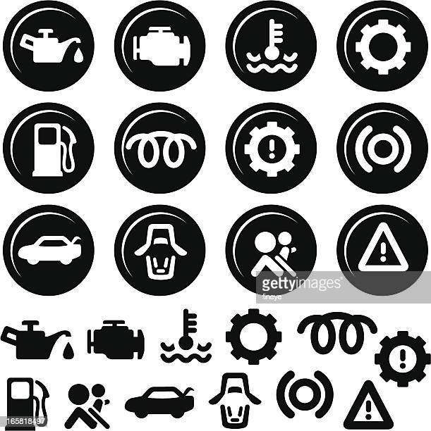 Car Dashboard Icons, Fuel, Engine, Doors and more