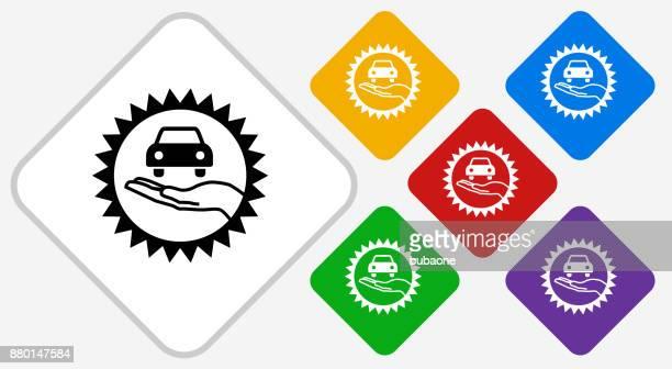 car dealer emblem color diamond vector icon - showroom stock illustrations, clip art, cartoons, & icons