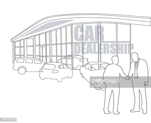 car dealership final sale - showroom stock illustrations, clip art, cartoons, & icons