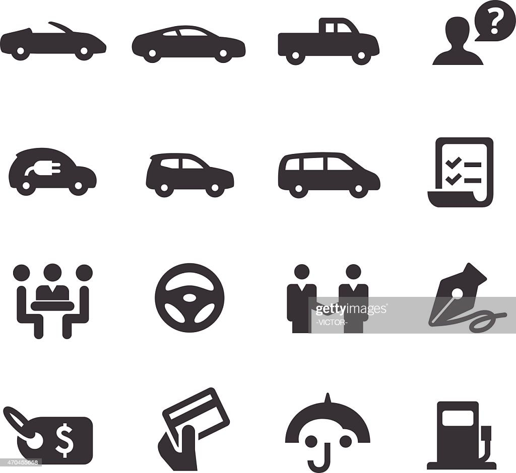 Car Dealership Icons Set - Acme Series