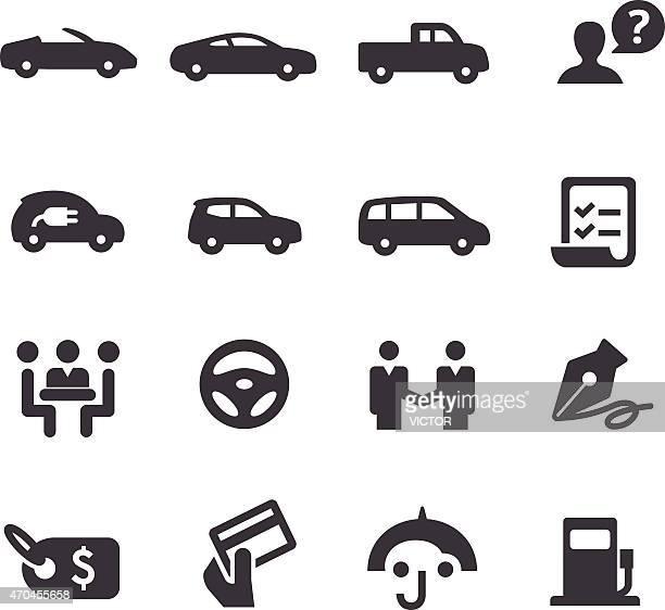 Car Dealership Icons Set - Acme Series