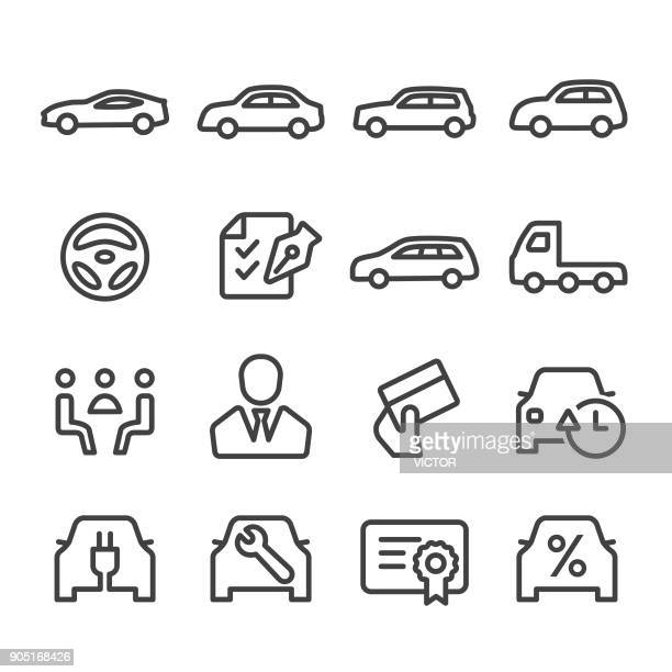 Car Dealership Icons Set - Line Series