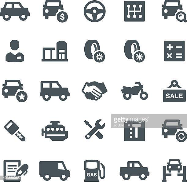 car dealership icons - car salesperson stock illustrations, clip art, cartoons, & icons