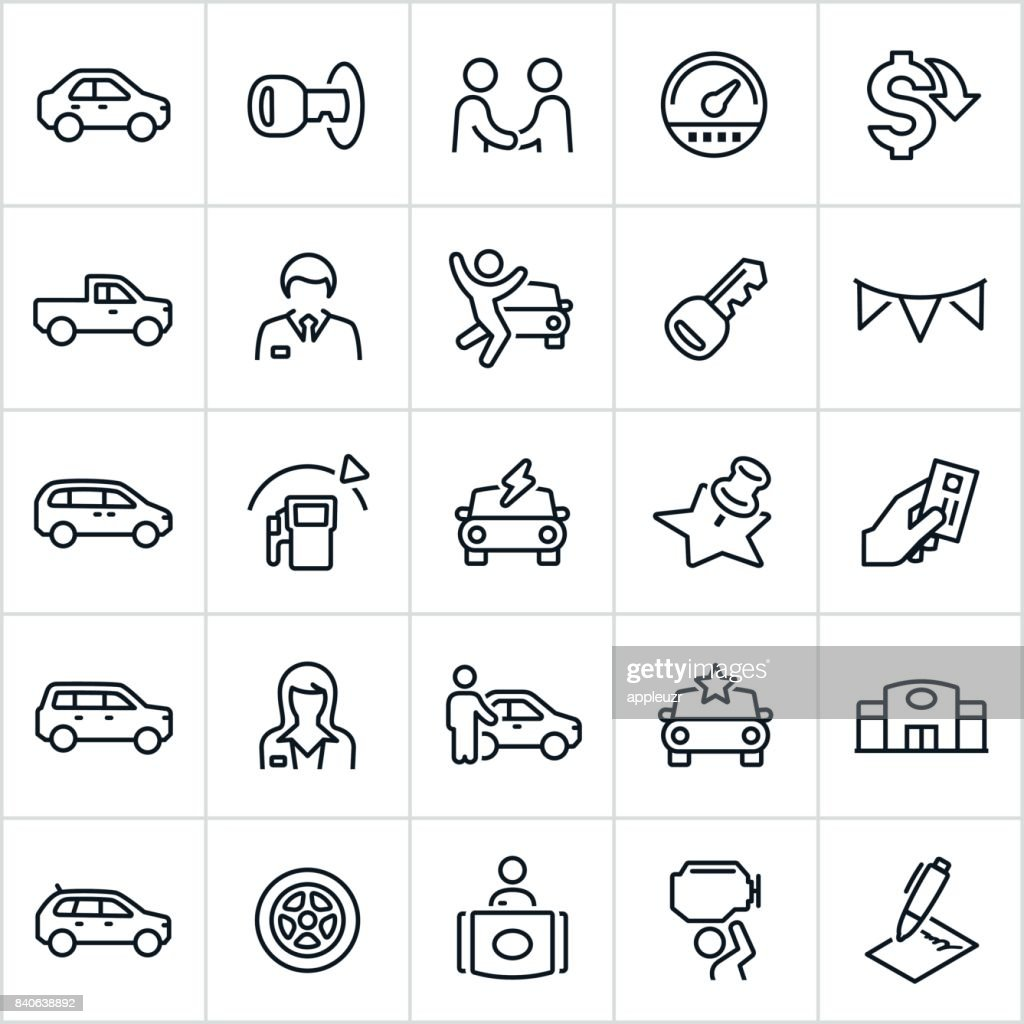 Car Dealership Icons : stock illustration