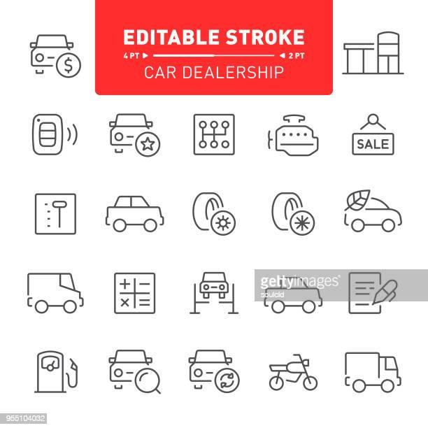 car dealership icons - gearshift stock illustrations, clip art, cartoons, & icons