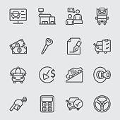 Car Dealership line icon