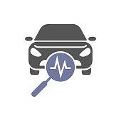 Car diagnostics, icon auto service, vector illustration eps 10