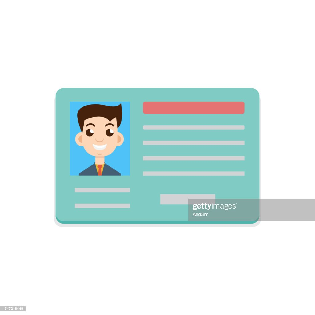 Car driver license icon