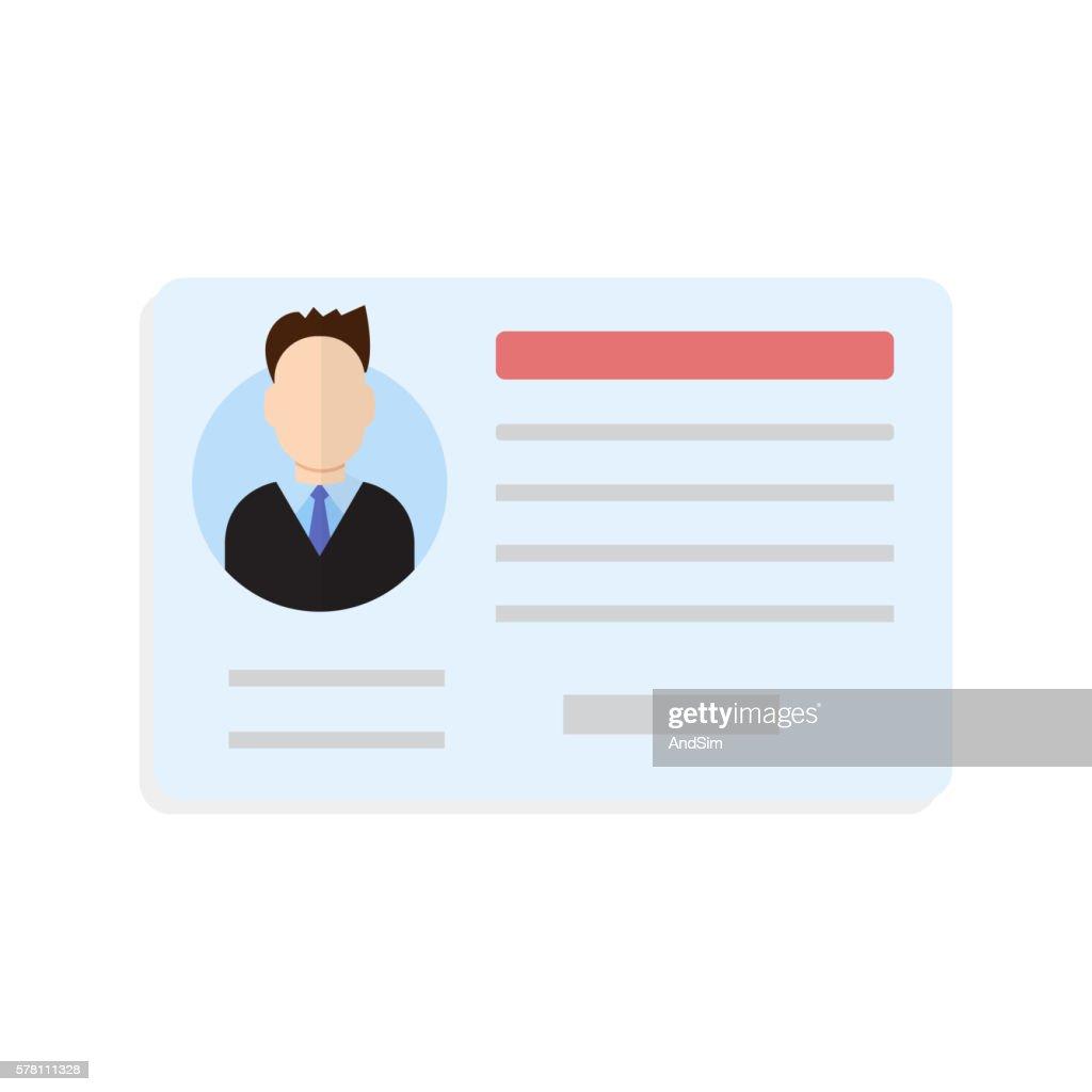 Car driver license man