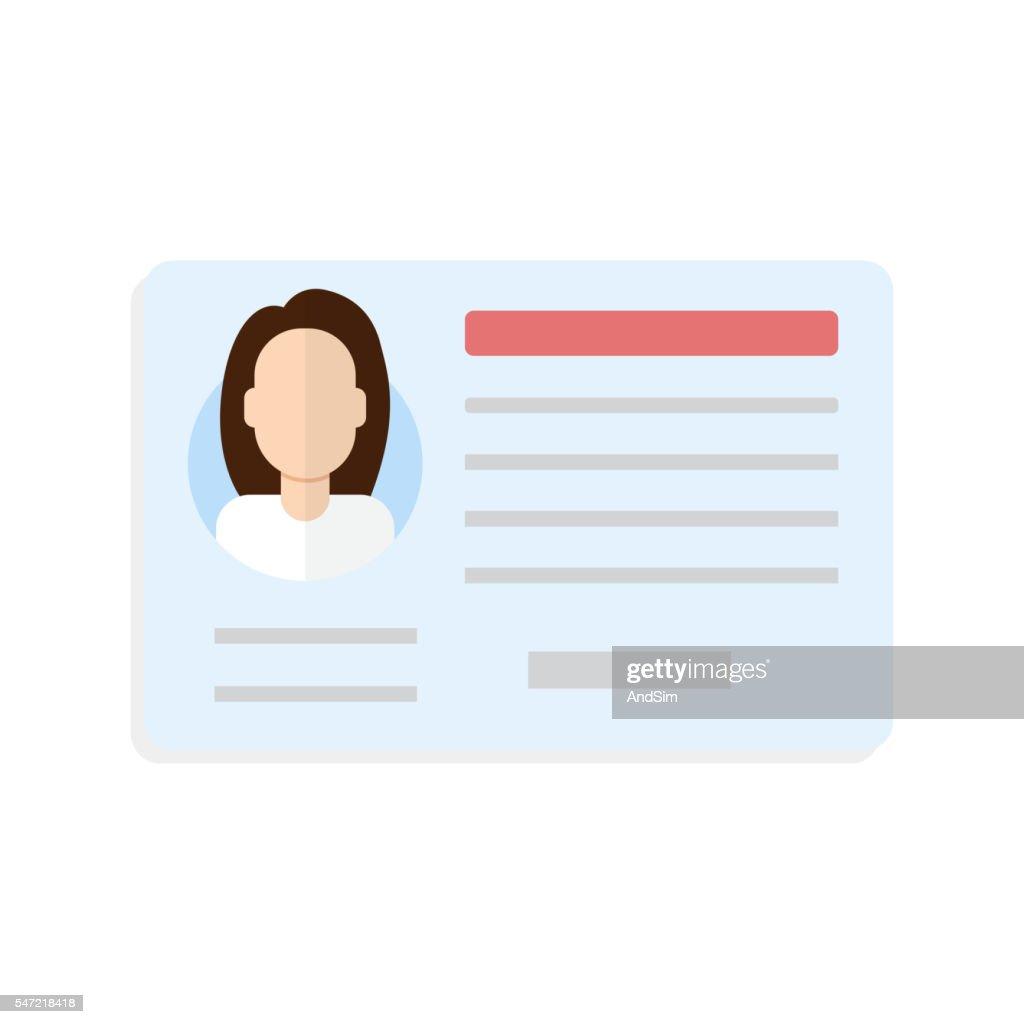 Car driver license woman