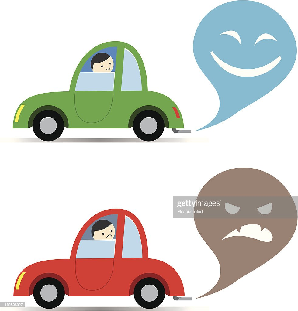 Car exhaust : stock illustration