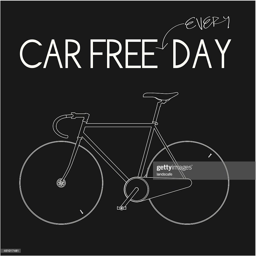 Car Free Everyday-Black