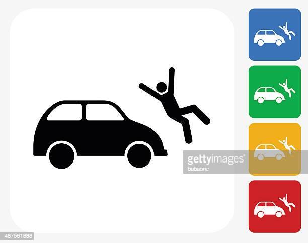 ilustraciones, imágenes clip art, dibujos animados e iconos de stock de pulsando persona de iconos planos de diseño gráfico - car crash