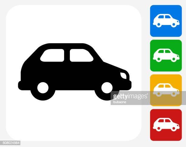 car icon flat graphic design - hybrid car stock illustrations, clip art, cartoons, & icons