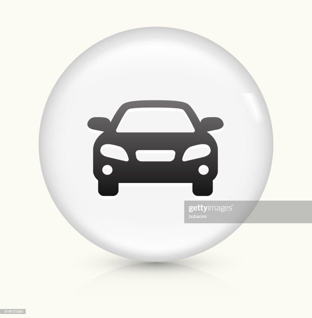 Car icon on white round vector button : stock illustration