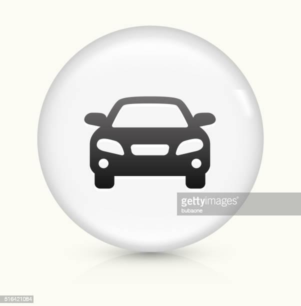 Car icon on white round vector button