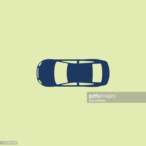 car (view from above) icon - directly above stock illustrations