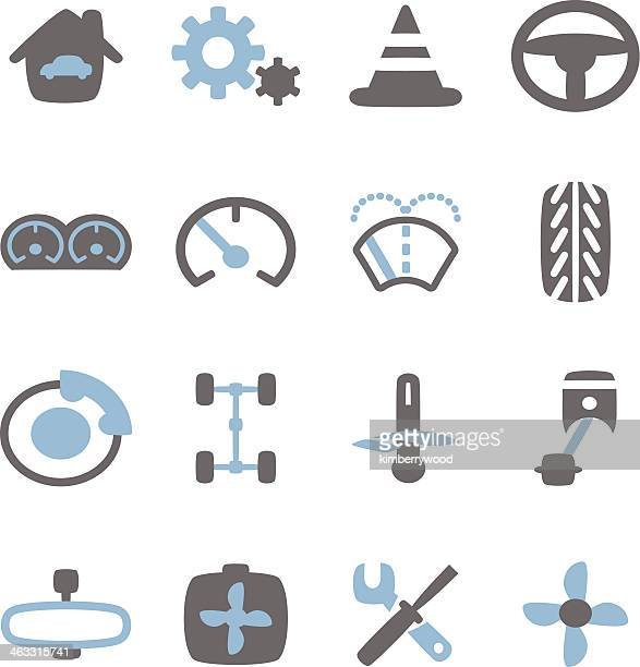 car icon - tire vehicle part stock illustrations, clip art, cartoons, & icons