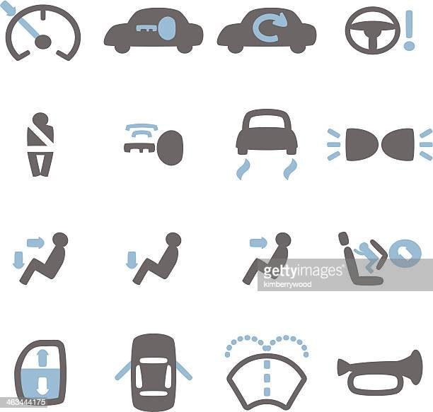 car icon - safety equipment stock illustrations, clip art, cartoons, & icons