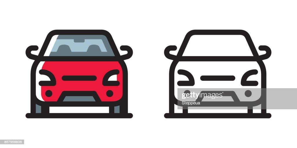 Car icon : stock illustration