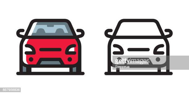 car icon - car stock illustrations, clip art, cartoons, & icons