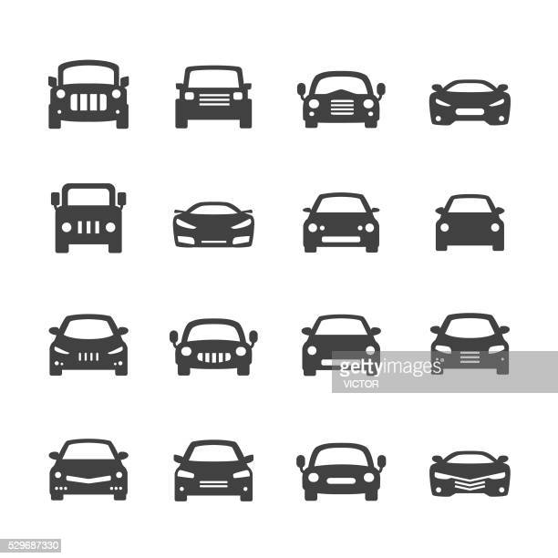 stockillustraties, clipart, cartoons en iconen met car icons - acme series - auto
