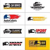 car icons, car service
