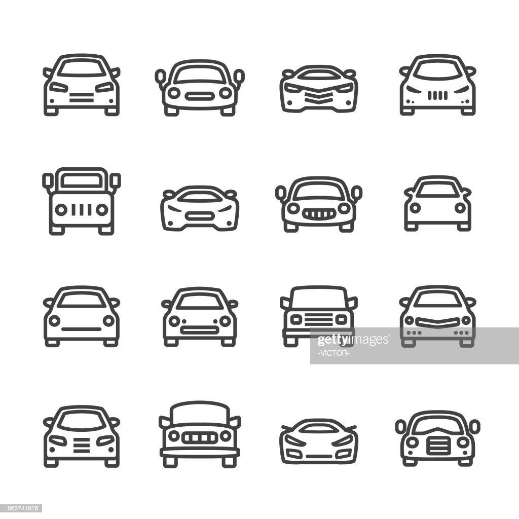 Car Icons - Line Series : stock illustration