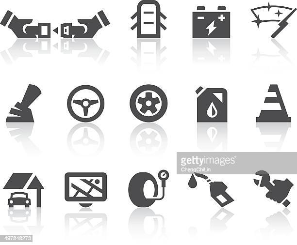 car icons | simple black series - tire vehicle part stock illustrations, clip art, cartoons, & icons