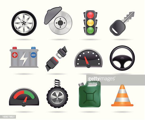 car icons - car battery stock illustrations, clip art, cartoons, & icons