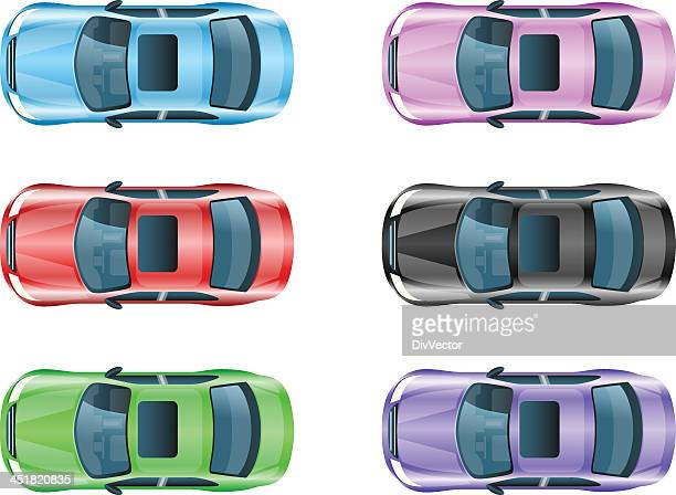 car icons - hatchback stock illustrations, clip art, cartoons, & icons