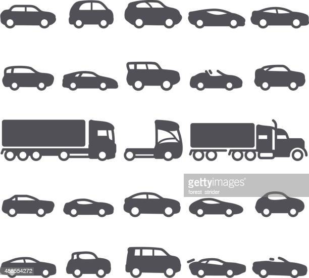 car icons - compact car stock illustrations, clip art, cartoons, & icons