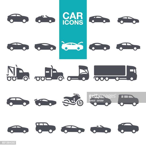 car icons - side view stock illustrations