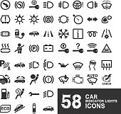 Car Indicator Lights Icons