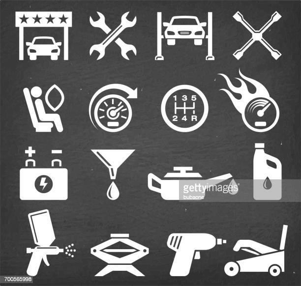Car Inspection and Auto Repair vector icon set