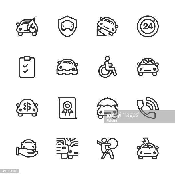 Car Insurance Icon - Line Series