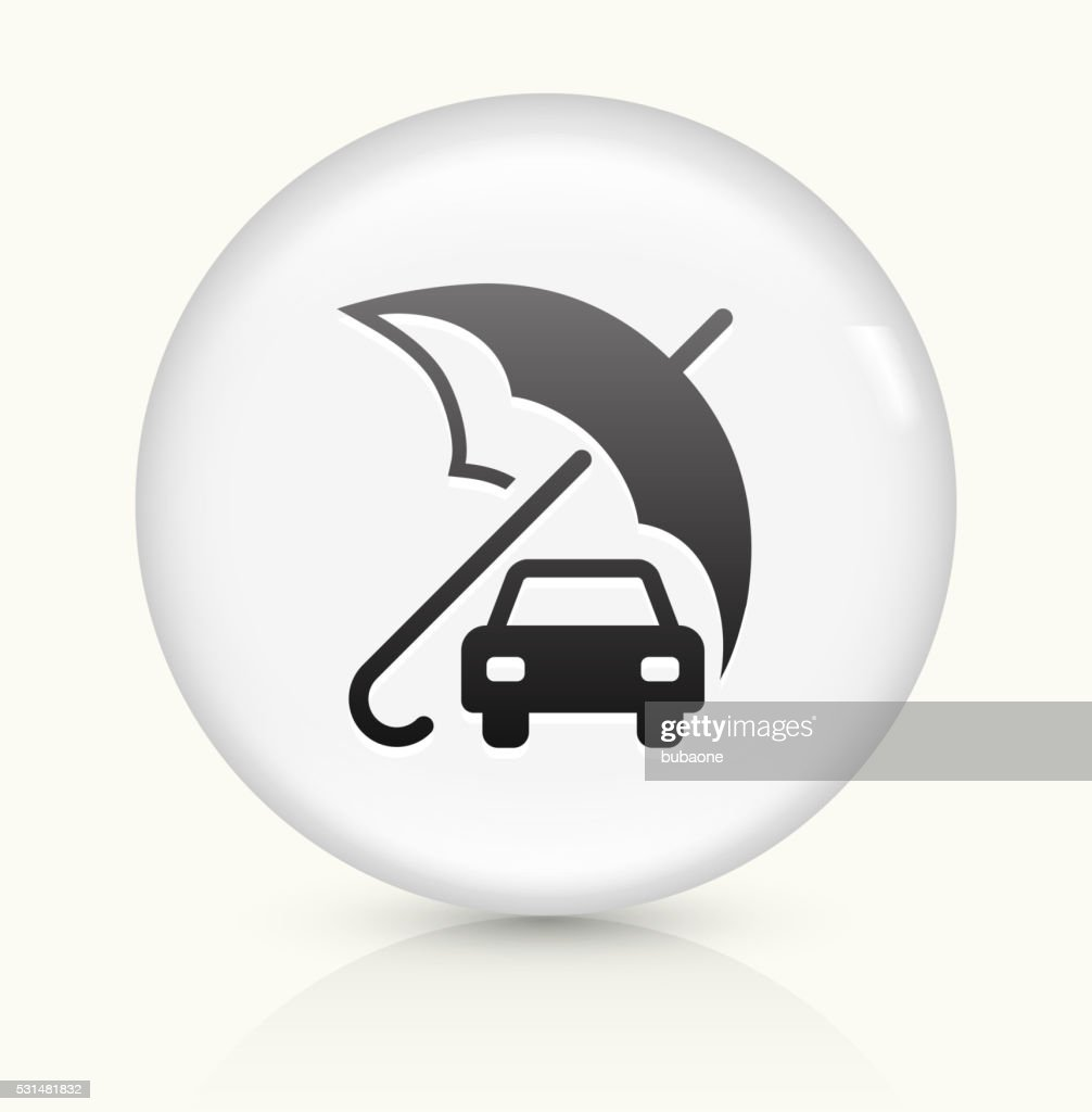Car Insurance Icon On White Round Vector Button High-Res ...