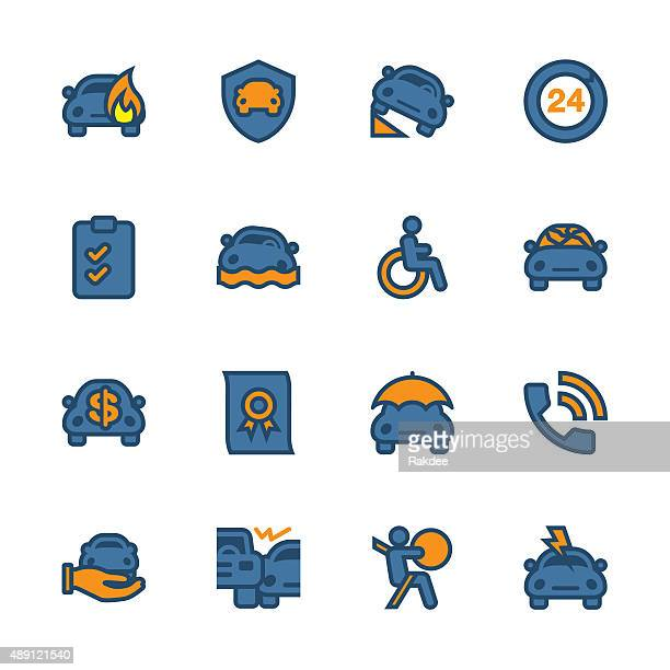 Car Insurance Icon - Outline Series
