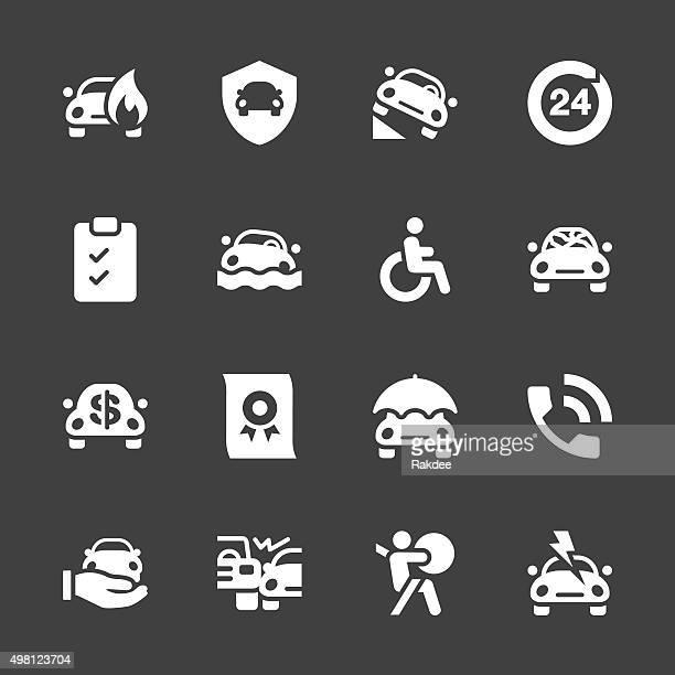 Car Insurance Icon - White Series