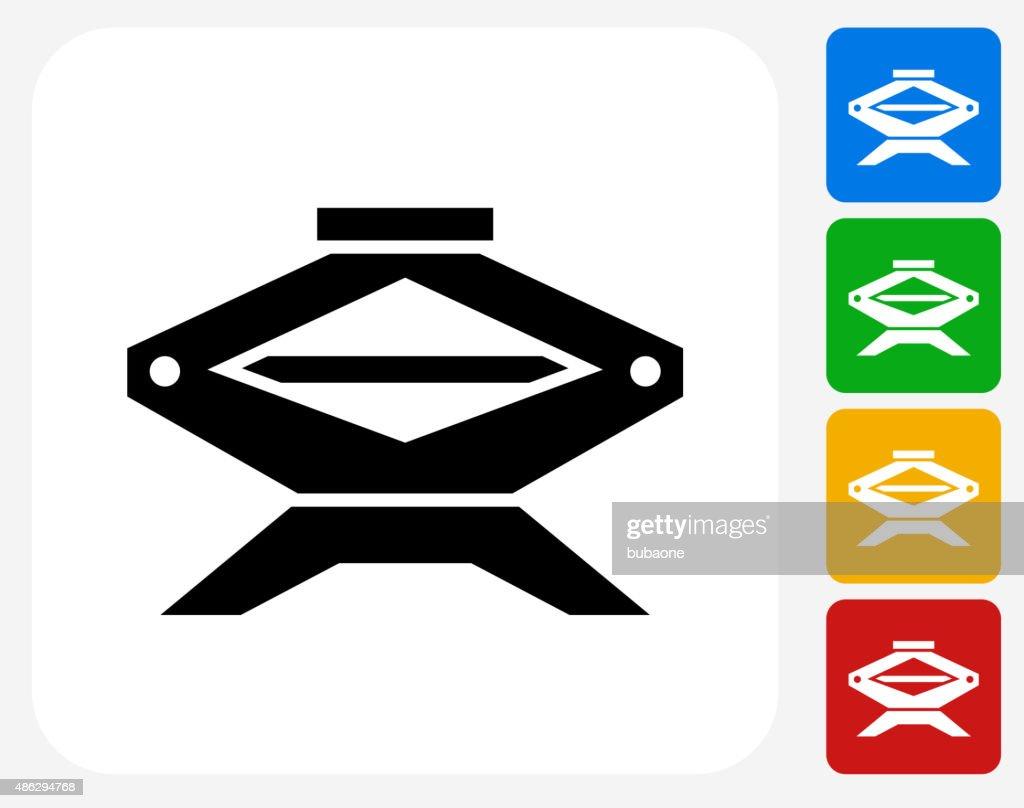 Car Jack Icon Flat Graphic Design