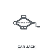 car jack icon from Car parts collection.