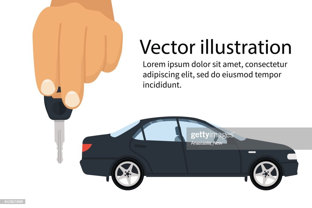 Car Key In Hand Vector Art Getty Images