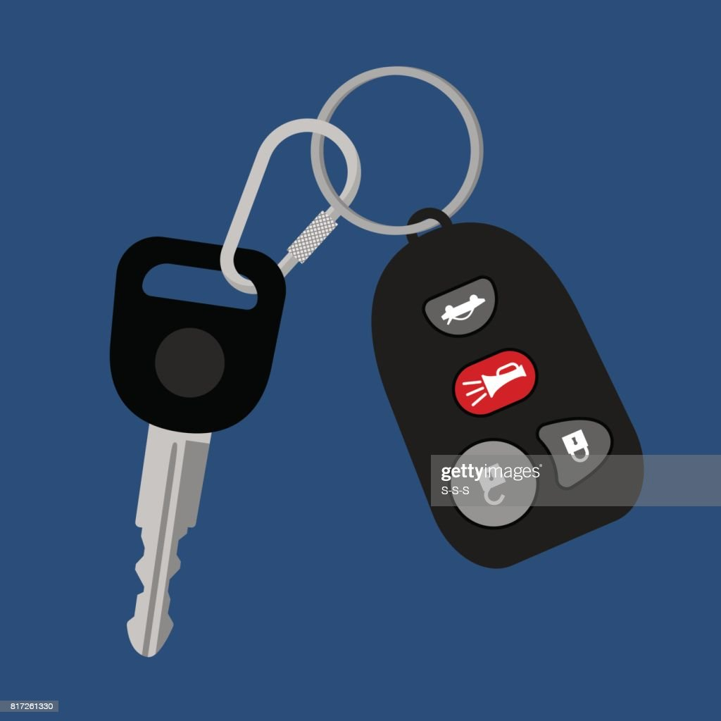 Car key with auto access padlock