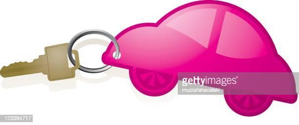 car keychain - car key stock illustrations, clip art, cartoons, & icons