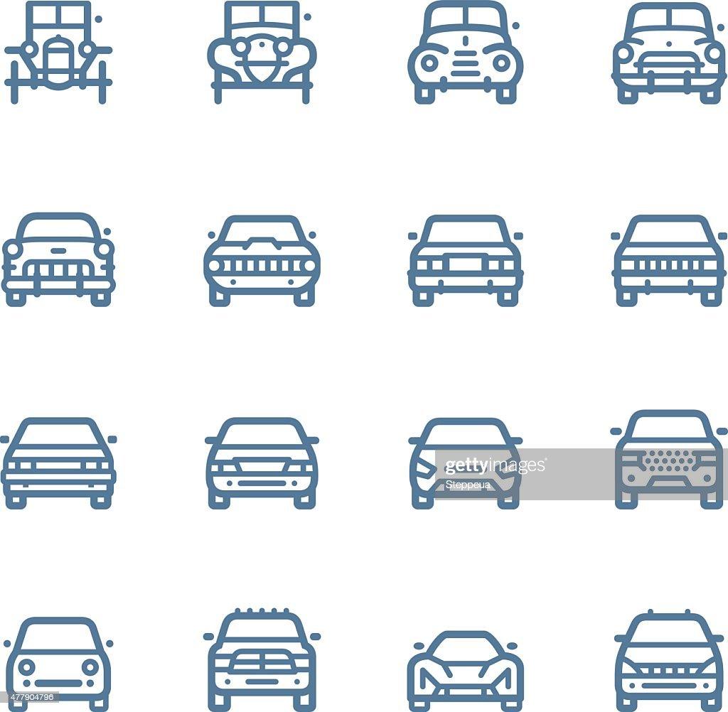 Iconos de línea : Ilustración de stock