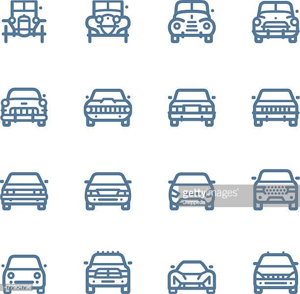 car line icons - compact car stock illustrations, clip art, cartoons, & icons