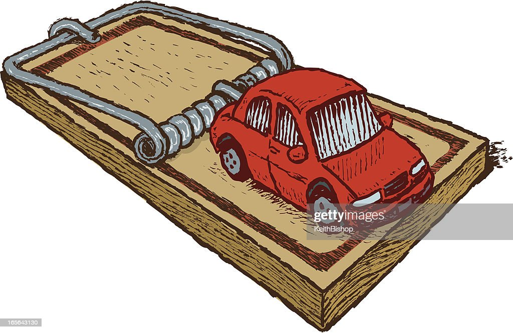 Car Loan Trap Vector Art   Getty Images