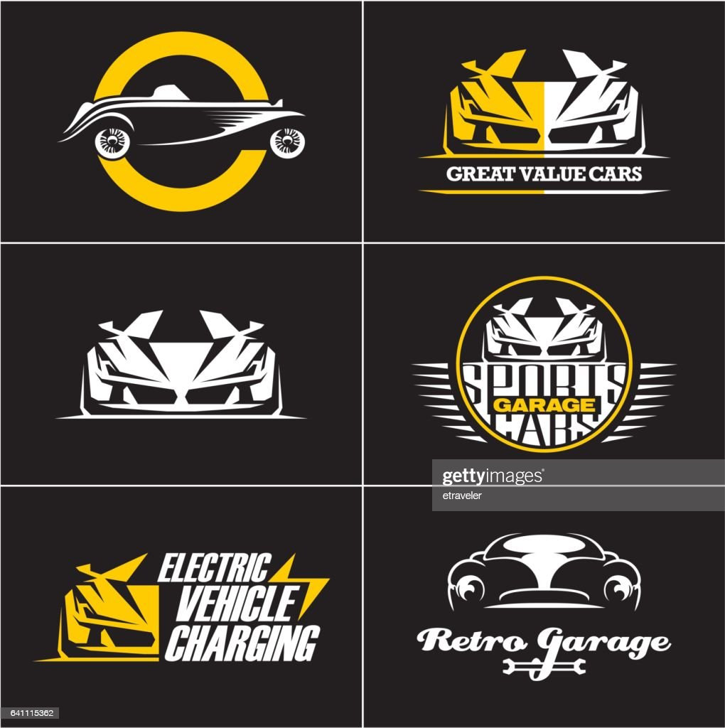 car logos and icons set