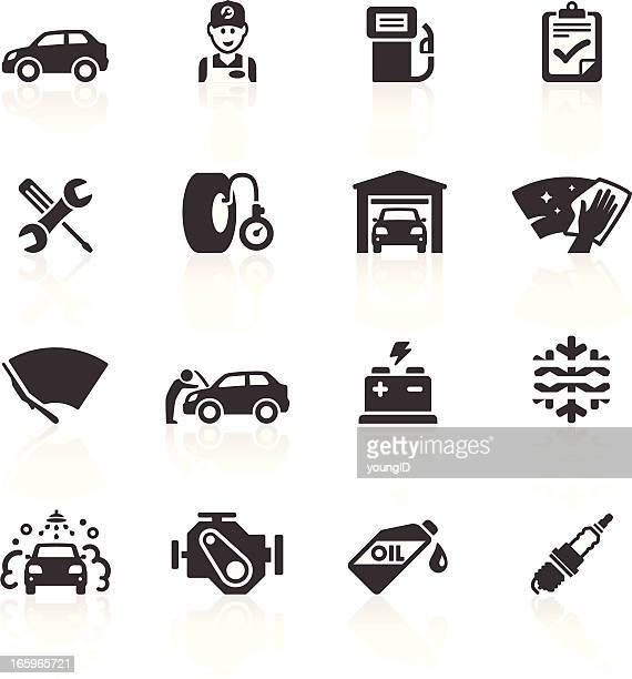 car maintenance & care icons - petrol stock illustrations, clip art, cartoons, & icons